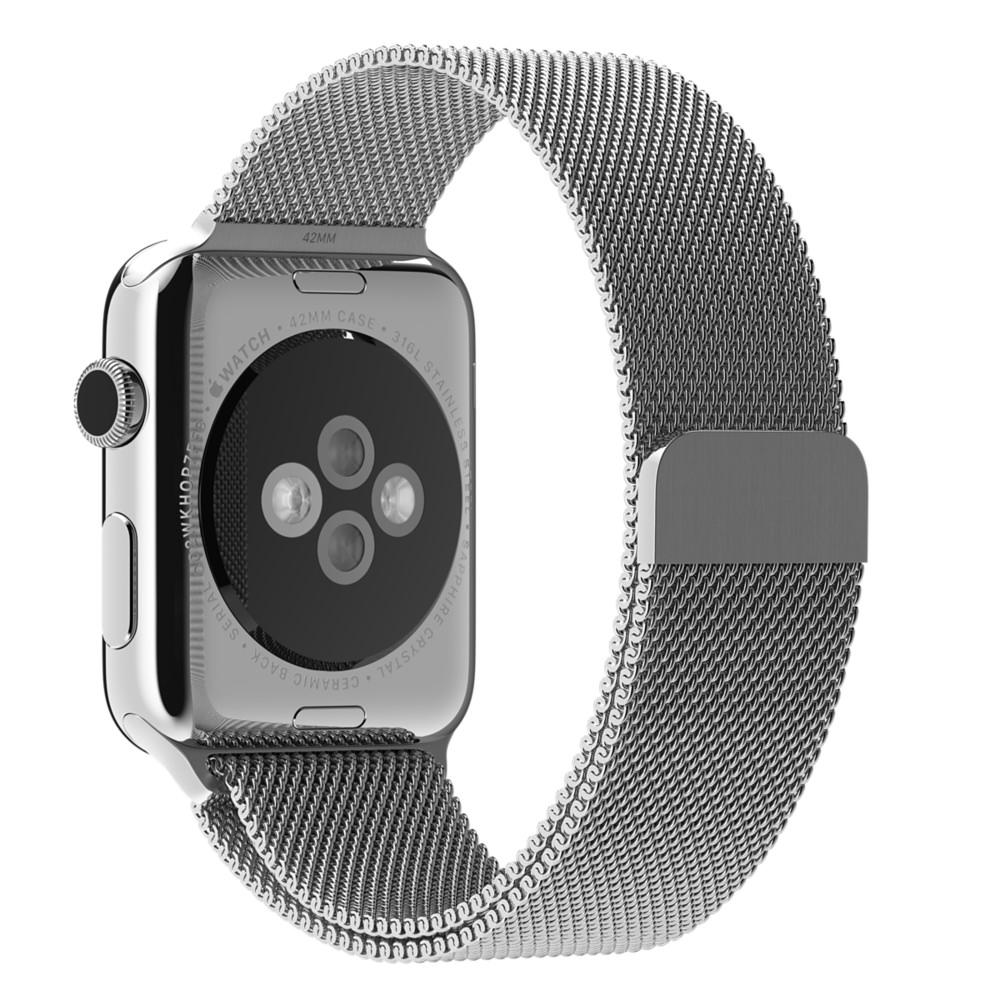 Ремешок серебристый миланская петля для Apple Watch 42мм (реплика)