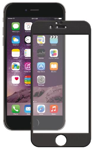 Защитное стекло для Apple iPhone 6/6S Plus (с черной рамкой)