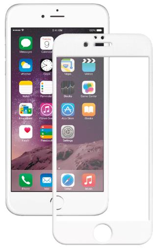Защитное стекло для Apple iPhone 6/6S Plus (с белой рамкой)