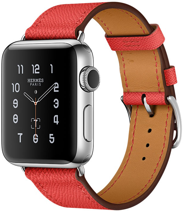 Apple Watch Series 2, Корпус 38 мм из нержавеющей стали, кожаный ремешок Simple Tour цвета Rose Jaipur (MNQ62)