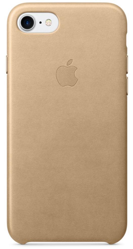 Чехол клип-кейс Apple кожаный для iPhone 7  (миндальный цвет)
