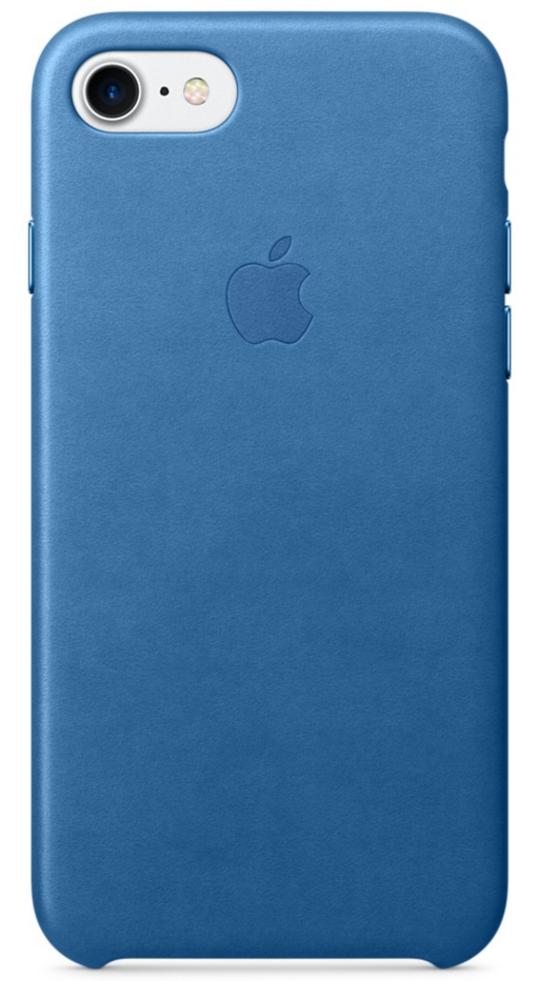 Чехол клип-кейс Apple кожаный для iPhone 7 (цвет «синее море»)