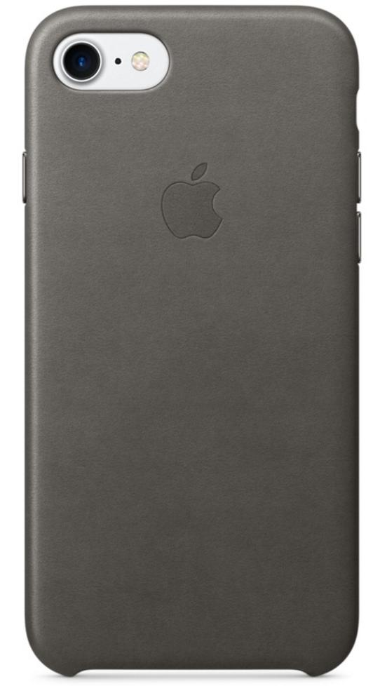 Чехол клип-кейс Apple  кожаный для iPhone 7  (цвет «грозовое небо»)