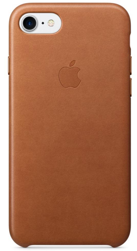 Чехол клип-кейс Apple  кожаный  для iPhone 7  (золотисто-коричневый цвет)