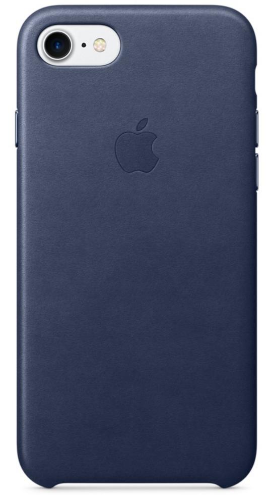 Чехол клип-кейс Apple  кожаный для iPhone 7  (тёмно-синий цвет)
