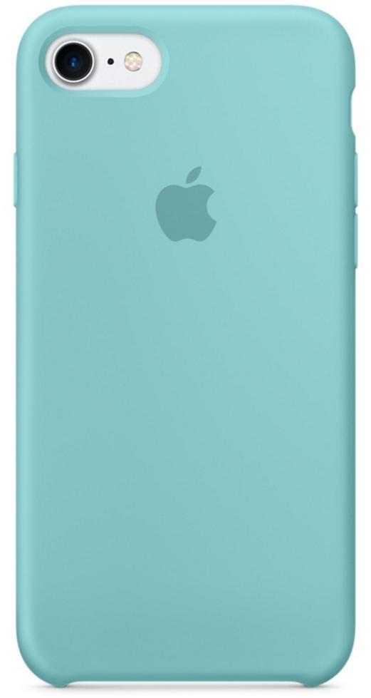 Чехол клип-кейс силиконовый Apple Silicone Case для iPhone 7/8, цвет «синее море» (MMX02ZM/A)