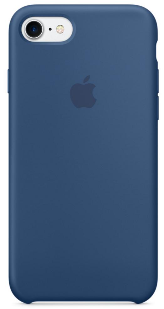 Чехол клип-кейс Apple  силиконовый для iPhone 7 (цвет «глубокий синий»)