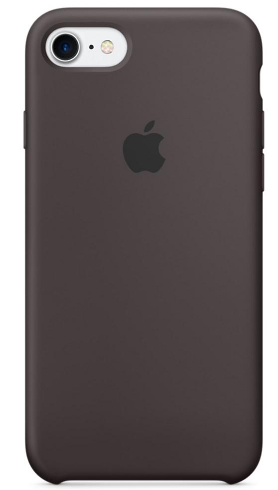 Чехол клип-кейс Apple  силиконовый для iPhone 7 (цвет «тёмное какао»)
