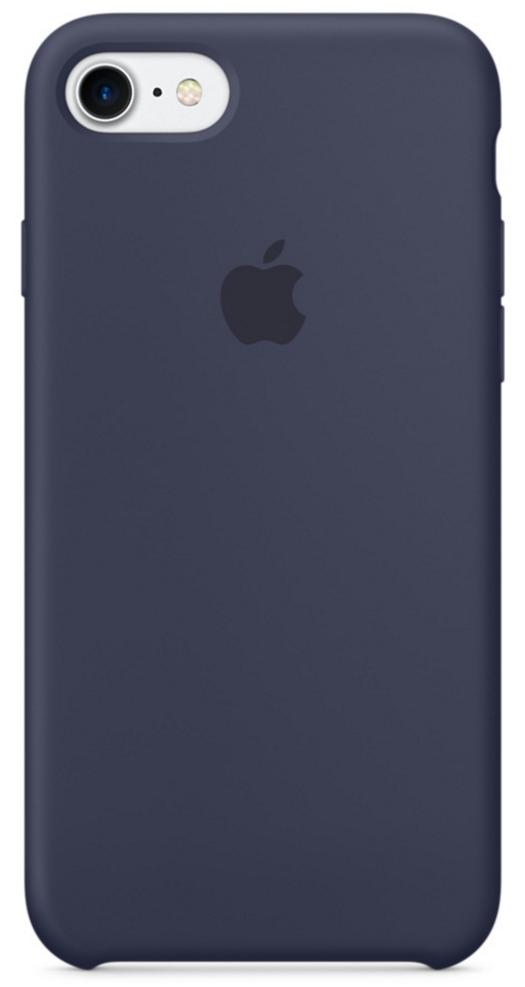Чехол клип-кейс Apple силиконовый для iPhone 7 (тёмно-синий цвет)