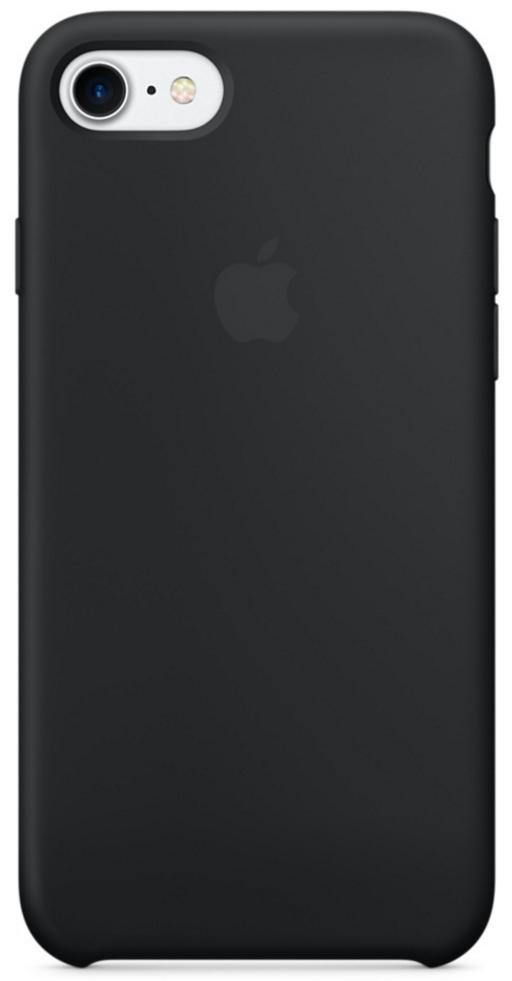 Чехол клип-кейс силиконовый Apple Silicone Case для iPhone 7/8, чёрный цвет (MQGK2ZM/A)