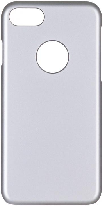 Чехол клип-кейс iCover Rubber для Apple iPhone 7 (серебристый, матовый)