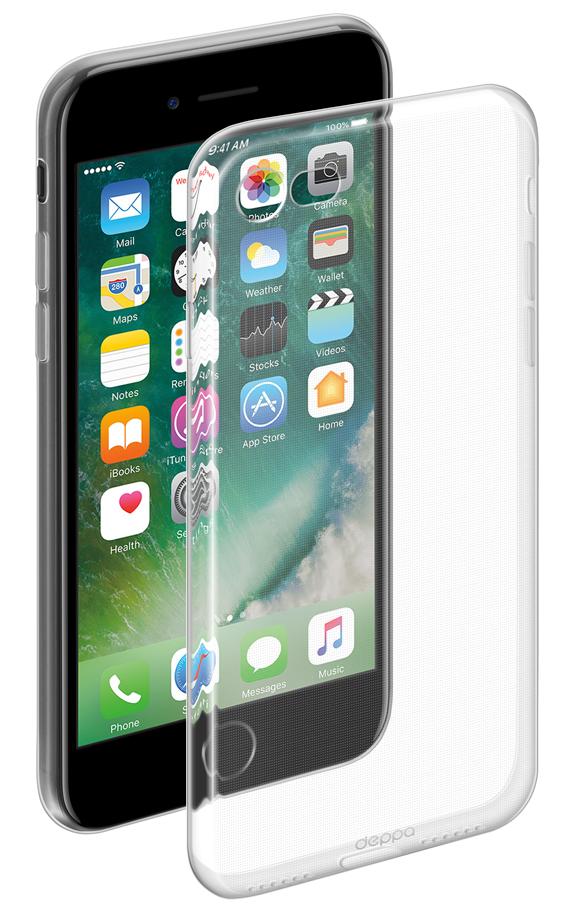 Чехол клип-кейс Deppa Gel для Apple iPhone 7 (85251) (прозрачный)