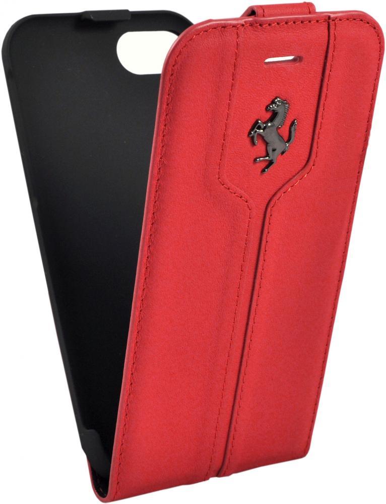 Чехол флип-кейс кожаный Ferrari Montecarlo Flip Leather Red для iPhone 7/8 (красный)
