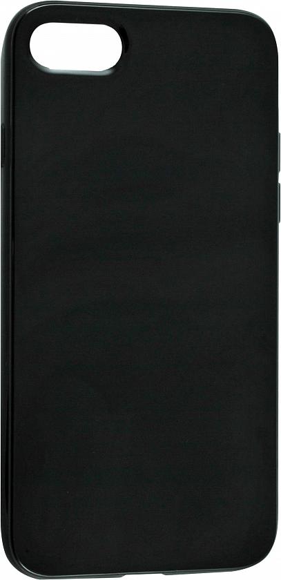 Чехол клип-кейс силиконовый глянцевый для Apple iPhone 7/8 (черный)