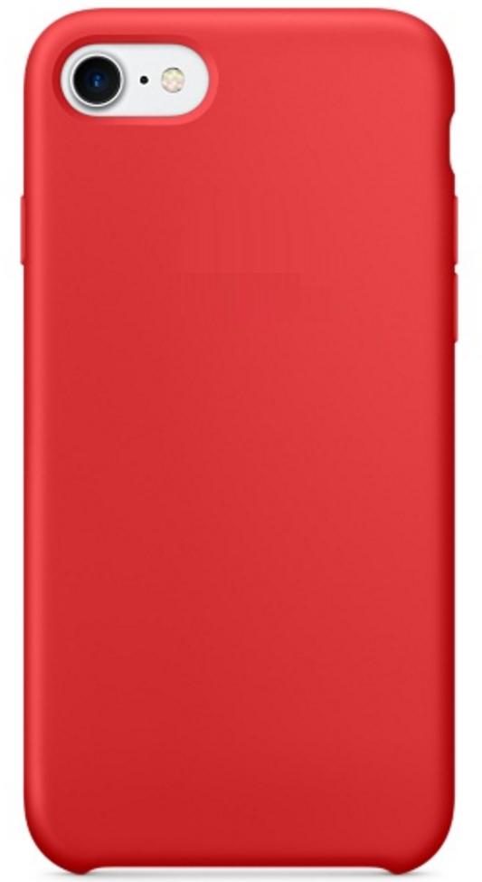Чехол клип-кейс Apple силиконовый для iPhone 7/8 красный (реплика)
