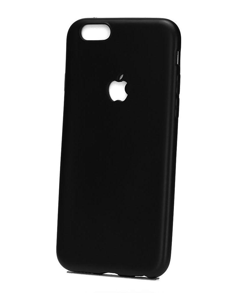 Чехол клип-кейс для Apple iPhone 7/8 с логотипом (черный)