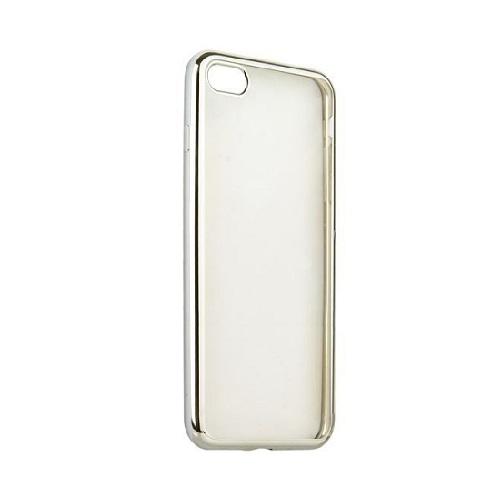 Чехол клип-кейс для Apple iPhone 7/8 из плотного силикона с серебристой окантовкой (серебристый)