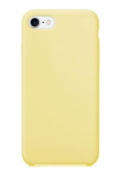 Чехол клип-кейс Apple силиконовый для iPhone 7/8 желтый (реплика)