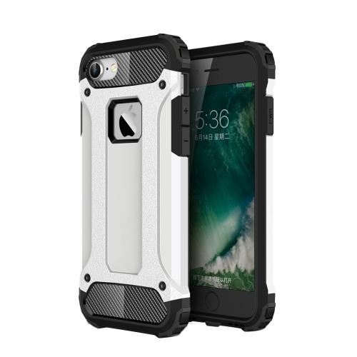 Чехол клип-кейс для Apple iPhone 7/8 противоударный с усиленными углами (серебро)