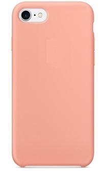 Чехол клип-кейс Apple силиконовый для iPhone 7/8  ярко-розовый (реплика)