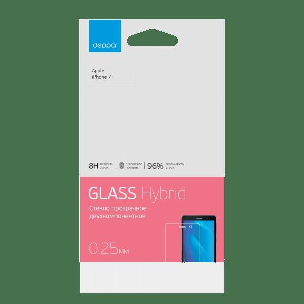 Защитное стекло Deppa Hybrid для Apple iPhone 7/8 (прозрачное)