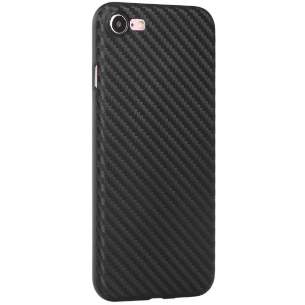 Чехол клип-кейс силиконовый HOCO Light Series case для iPhone 7 под карбон (чёрный)