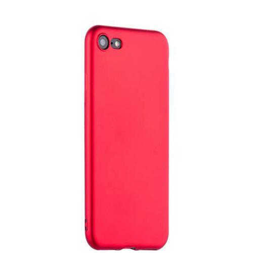 Чехол клип-кейс силиконовый матовый для Apple iPhone 7/8 (красный)