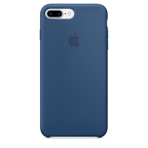 Чехол клип-кейс Apple силиконовый для iPhone 7 Plus (глубокий синий)