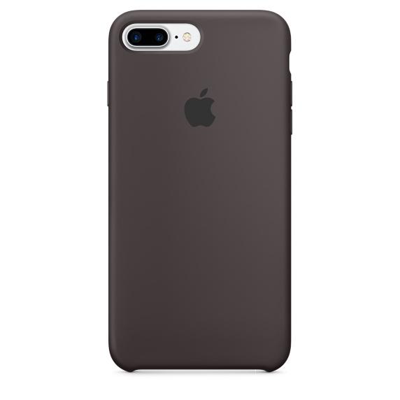 Чехол клип-кейс силиконовый Apple Silicone Case для iPhone 7 Plus/8 Plus, цвет «тёмное какао»