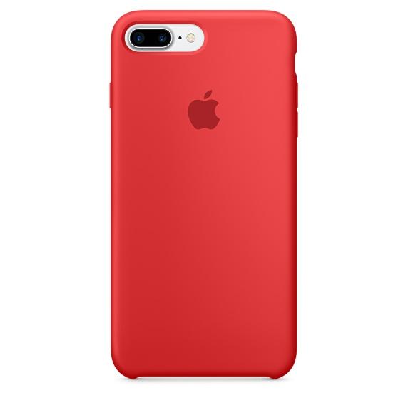 Чехол клип-кейс Apple силиконовый для iPhone 7 Plus (красный)