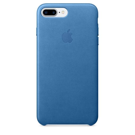 Чехол клип-кейс Apple кожаный для iPhone 7 Plus (синее море)