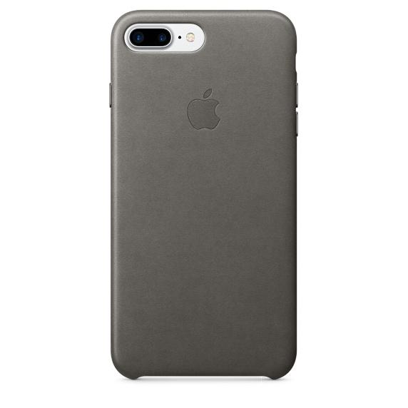 Чехол клип-кейс кожаный Apple Leather Case для iPhone 7 Plus/8 Plus, цвет «грозовое небо»