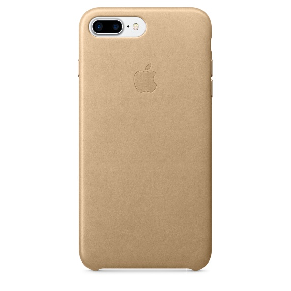 Чехол клип-кейс Apple кожаный для iPhone 7 Plus (миндальный)