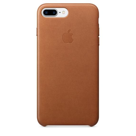 Чехол клип-кейс Apple кожаный для iPhone 7 Plus (золотисто-коричневый)