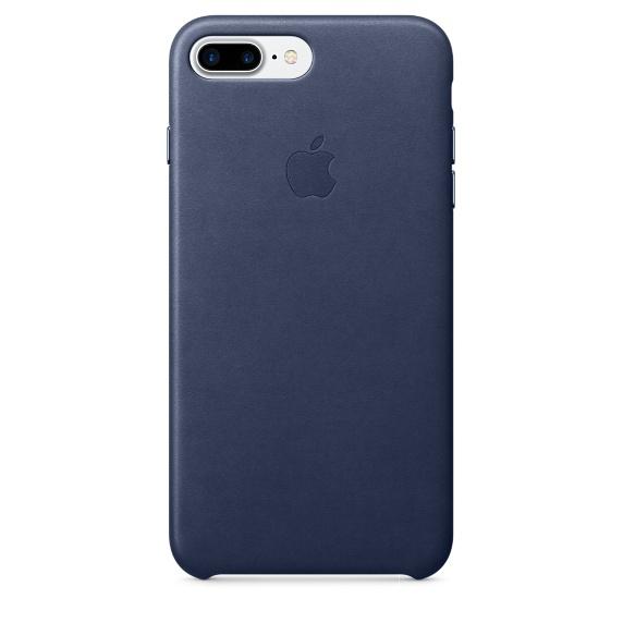 Чехол клип-кейс Apple кожаный для iPhone 7 Plus (тёмно-синий)