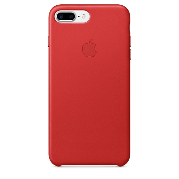 Чехол клип-кейс кожаный Apple Leather Case для iPhone 7 Plus/8 Plus, (PRODUCT)RED красный цвет