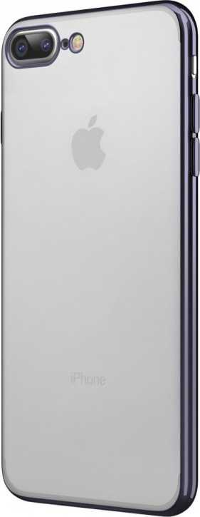 Чехол клип-кейс Takeit Metal Slim для Apple iPhone 7 Plus (черный металлик)