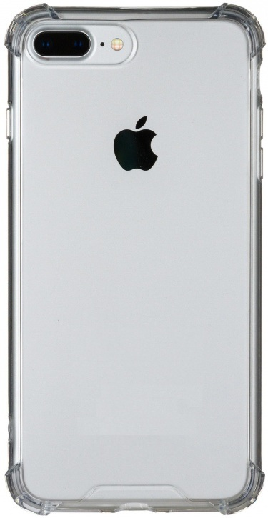 Чехол клип-кейс для Apple iPhone 7 Plus/8 Plus из плотного силикона с усиленными уголками (прозрачный)