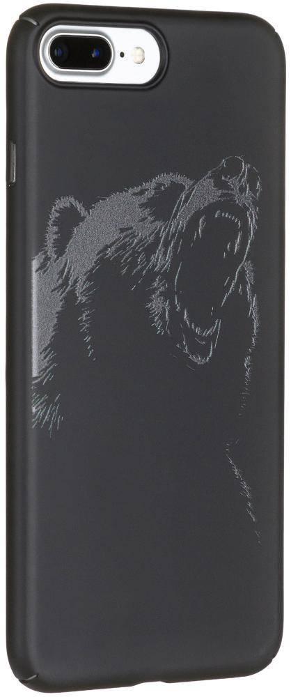 """Чехол клип-кейс Deppa Art для Apple iPhone 7 Plus/8 Plus """"Медведь"""" гравюра (черный)"""