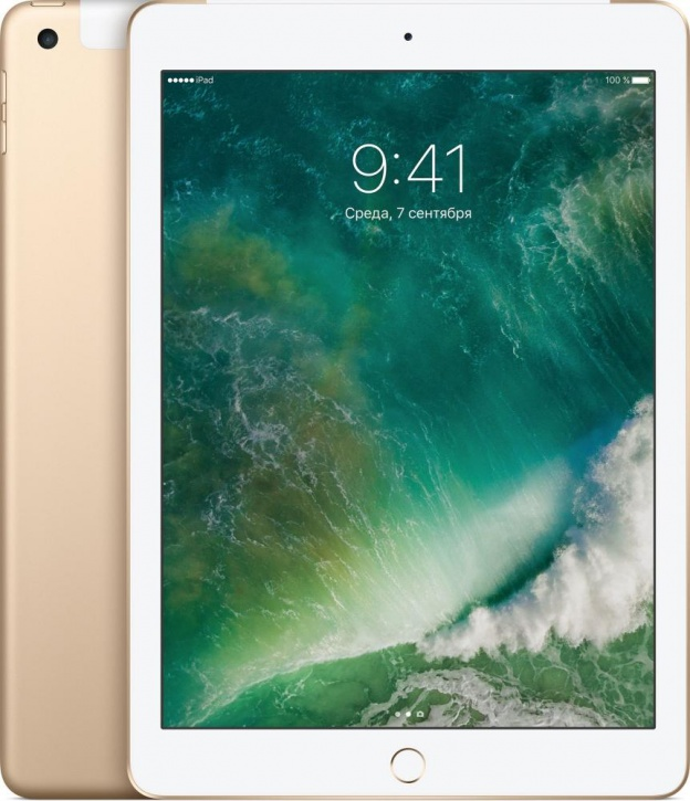 """Планшет Apple iPad 9.7"""" Wi-Fi + Cellular 128 ГБ золотой (MPG52)"""