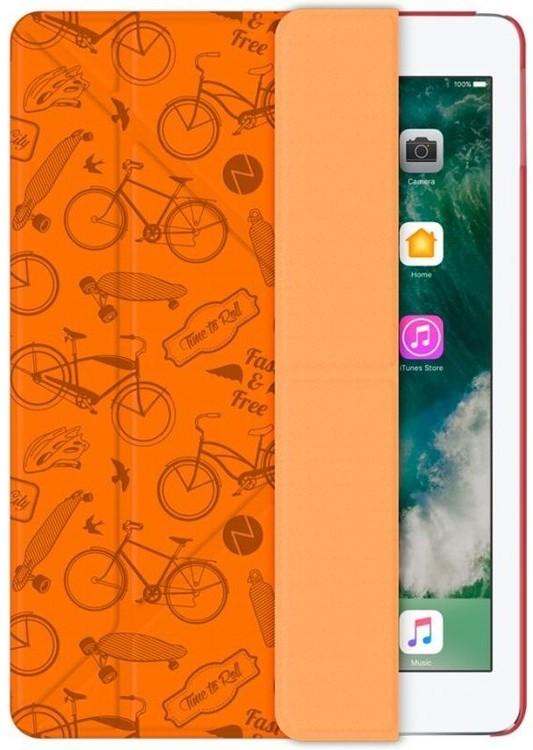Чехол-книжка Y-образный Wallet Onzo Cycles для iPad 9.7 2017/2018 (оранжевый)