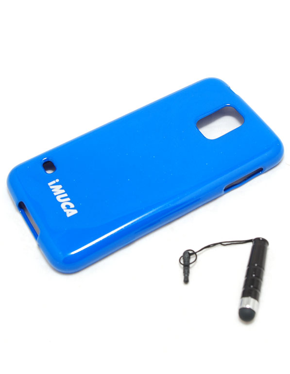 Чехол гелевый Imuca для Samsung Galaxy S5 i9600 синий