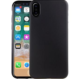 Чехол клип-кейс силиконовый матовый Deppa Air Case для Apple iPhone X (черный)