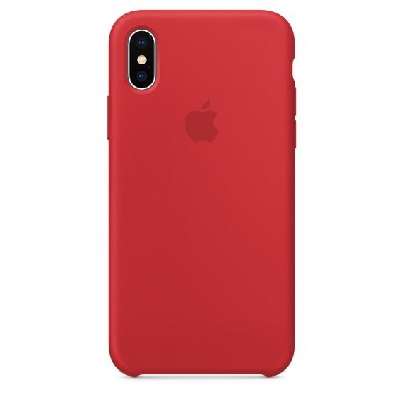 Чехол клип-кейс силиконовый Apple Silicone Case для iPhone X, (PRODUCT)RED красный цвет (MQT62ZM/A)