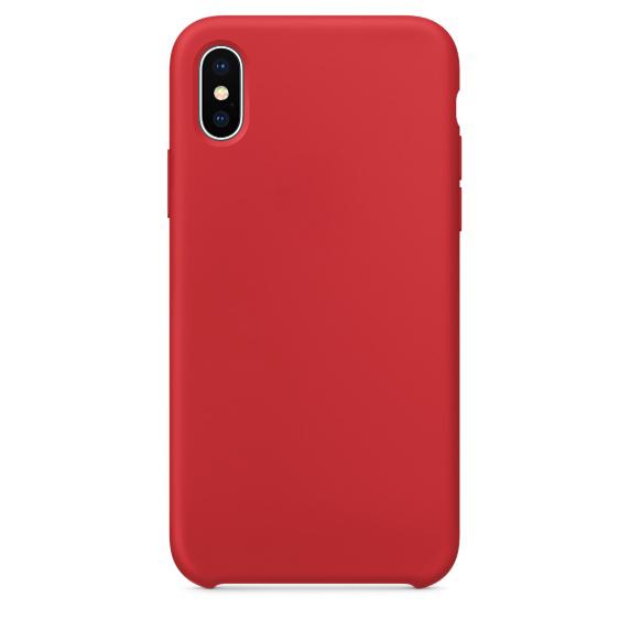 Чехол клип-кейс силиконовый Apple Silicone Case для iPhone X (реплика, красный)