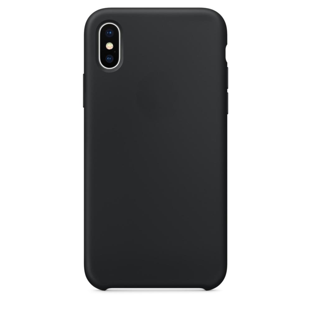 Чехол клип-кейс силиконовый Apple Silicone Case для iPhone X (реплика, черный)