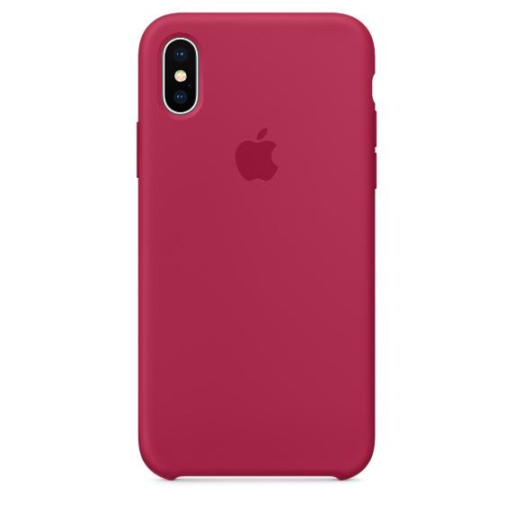 Чехол клип-кейс силиконовый Apple Silicone Case для iPhone X, цвет «красная роза» (MQT82ZM/A)