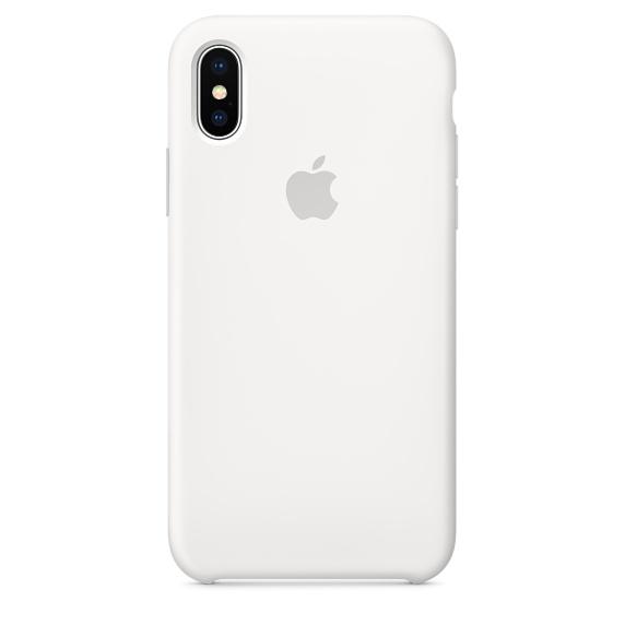 Чехол клип-кейс силиконовый Apple Silicone Case для iPhone X, белый цвет (MQT22ZM/A)