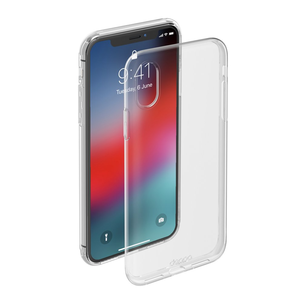 Чехол клип-кейс Deppa Gel для Apple iPhone XS Max (прозрачный)