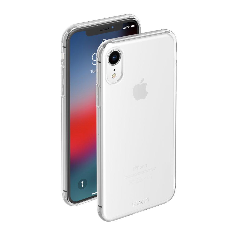 Чехол клип-кейс Deppa Gel для Apple iPhone XR (прозрачный)